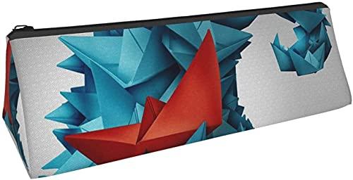 Bolsa de lápices con plumas, bolsa para lápices de impresión de luces norteamericanas, caja de almacenamiento de papelería portátil duradera