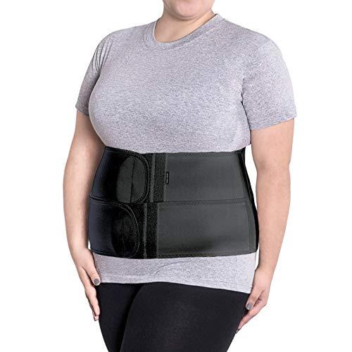 Cinturón soporte postoperatorio Faja postparto y postoperatorio Apoyo de los músculos abdominales y lumbosacro Altura 24 cm Unisex XXX-Large Negro