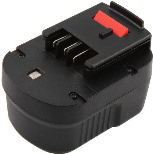 Mitsuru Batteria 2000 mAh Ni-MH 12 V per Black & Decker A1712 FS120B FSB12 HPB12 A12 A12-XJ A12EX FS120B FSB12