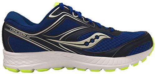 Saucony Men's Versafoam Cohesion 12 Road Running Shoe, Navy/Black/Lime 9.5 M US
