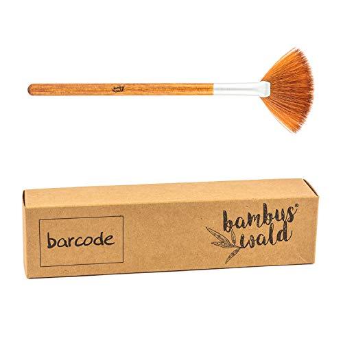 bambuswald© professioneller Make-Up Pinsel aus Bambus & synthetische Borsten - nachhaltige & umweltfreundliche Kosmetik - FAN BRUSH | Schminkpinsel Set Kosmetikpinsel