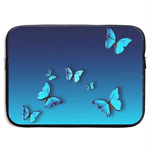 Zome Lag Laptop beschermhoes notebooktas, draagbare laptophoes, laptoptas, laptoptas, laptoptas, laptoptas, aktentas, mooie blauwe vlinder computer tas tas, laptophoes tas S(13 Inch) 1007