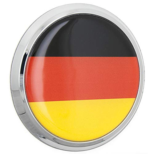 Automotive Sticker Decal Badge Flexes to Fully Adhere to Cars Windows Almost Anything LNI Australia 9672-151 Laptops Motorcycles Trucks Fan Emblems German Flag 3D Car Emblem Domed//Multicolor//Chrome