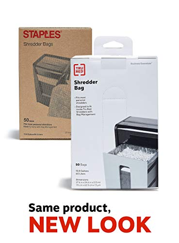Buy Discount Staples Shredder Bags, 15.8 Gal, 50 Count