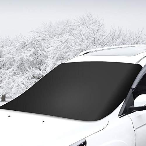 Autovoorruit Cover, Winter Antivries Front Cover Antivries Sneeuw Cover, Super Dikke Wind- En Zonbestendige Sneeuwuitrusting, Voor De Meeste Autos.