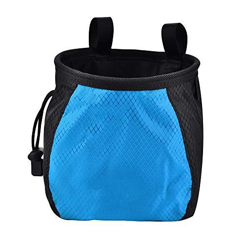 Vbest life Kletter-Kreidetasche Klettertasche mit Kordelzug und verstellbarem Schnellclip-Gürtel zum Klettern, Turnen und Heben(Blau)