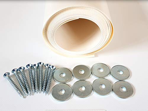 TUTTOPERGOLE Copertura con Fasce in PVC Pieno Adatte per strutture in Legno (Cm 430 X Cm 50, Avorio)