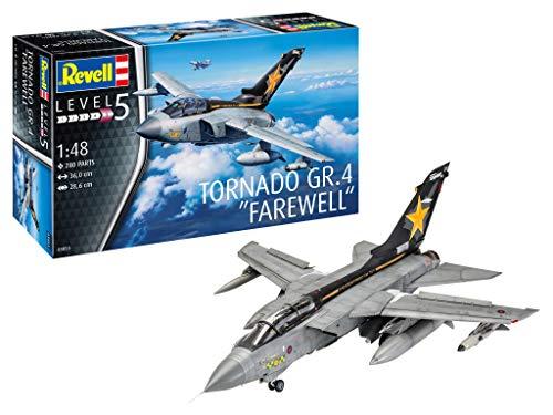 Revell-Tornado GR.4 Farewell Maqueta Fiel al Original para Expertos, Color Plateado (RV03853)