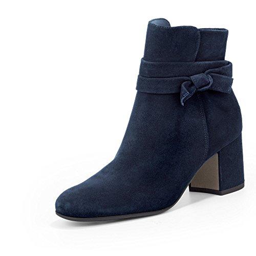 Paul Green 8094-021 Damen Stiefelette aus Leder Elegante Laufsohle mit Absatz, Groesse 37, dunkelblau