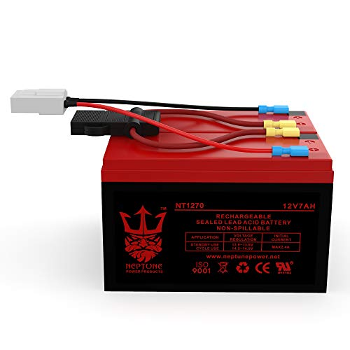 Razor Scooter 12V 7Ah Battery Replacement Set of 2 with New Wiring Harness (replaces 6-DW-7)