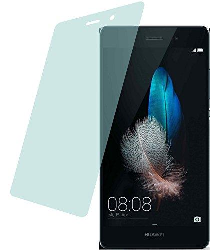 4ProTec I Huawei P8 Lite (2 Stück) Premium Bildschirmschutzfolie Displayschutzfolie kristallklar Schutzhülle Bildschirmschutz Bildschirmfolie Folie