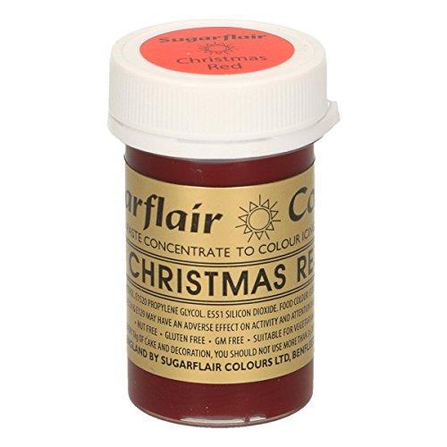Sugarflair Comestible Fondant Pasta Color 25g Rojo Navidad