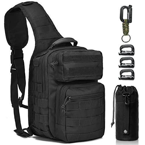 Monoki Tactical Sling Backpack, Military Rover Shoulder...