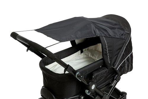 Altabebe AL7010-02 Sonnensegel mit UV Schutz für Kinderwagen/Buggys, schwarz