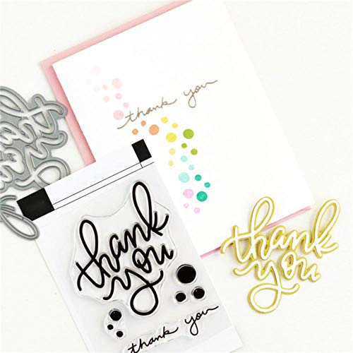 Dank u brief duidelijke stempels en Sterft 2019 voor kaart maken Scrapbooking Embossing Stencil Craft Stempel Sets met Dies, Stempel, China