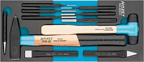 HAZET Werkzeug-Satz (11-teiliger Werkzeugsatz, Safety-Insert-System, 2-Komponenten-Weichschaum-Einlage) 163-523/11