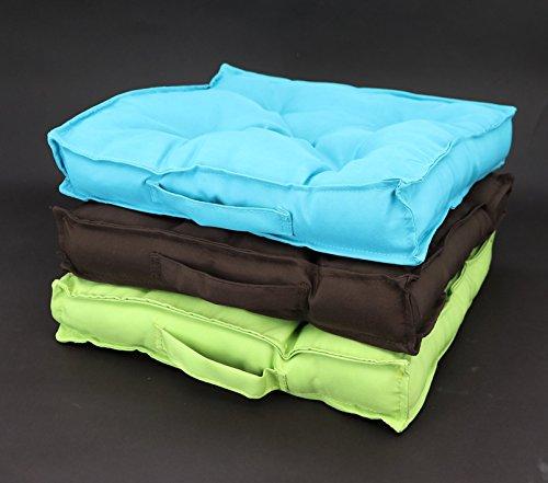 heimtexland - Cuscino per materasso con trapuntatura a 5 punti e maniglia, 38 x 38 cm, per lounge, da giardino, per esterni, per stadio, tipo 333
