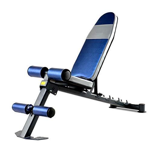 Klappgewicht Tisch Hantel Bank Rückenlage Bauchmuskel Training Bank Vogel Stuhl Bank Bank Fitnessgeräte Klapp Fitness Bank Bänke (Farbe: Blau, Größe: 138,4x45,7x52,1 cm)