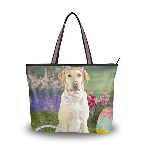 NaiiaN Hund Ostereier für Frauen Mädchen Damen Student Leichter Riemen Umhängetaschen Geldbörse Shopping Einkaufstasche Handtaschen