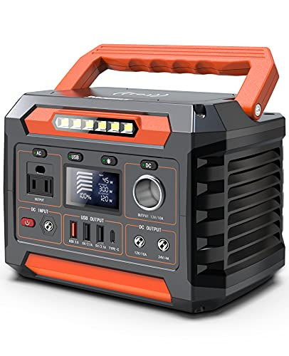 PROGENY Portable Power Station 300W, 299Wh/80818mAh Solar Generator with 12V Regulated DC, Pass-Through Charging, Wireless Charger, Backup Lithium Battery for Outdoor Camping CPAP Emergency Blackout