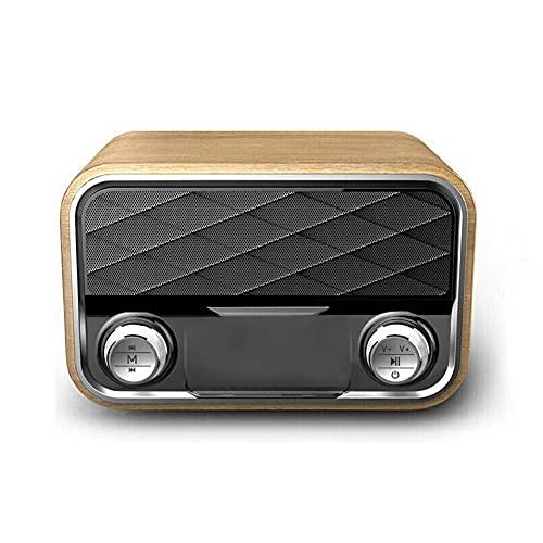 Radio Retro Estantería Altavoz Bluetooth Subwoofer portátil al Aire Libre Altavoces Dobles Subwoofer Radio FM Tarjeta TF AUX U Disco Música