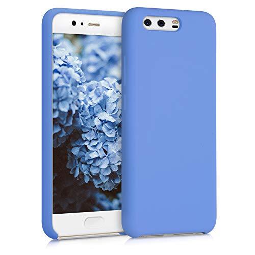 kwmobile Funda Compatible con Huawei P10 - Carcasa de TPU para móvil - Cover Trasero en Azul Mate