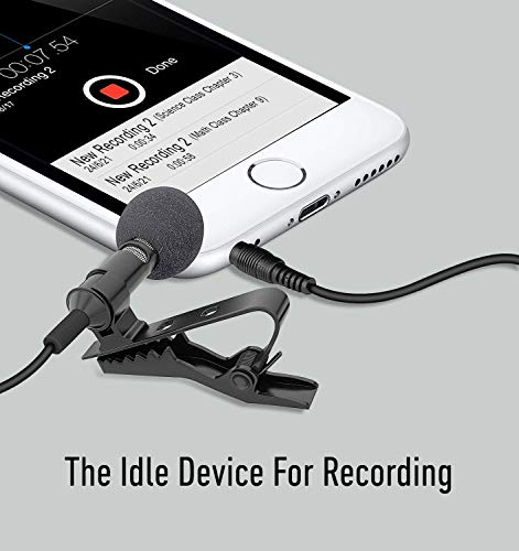 UBON CM-20 Metal Star Condenser Clip Microphone with 3.5mm Jack and 1.5m Cable for YouTube, TIK Tok Videos and Audio Recording for Mobile/Pc/Laptop/Android/Apple Device/DSLR Camera