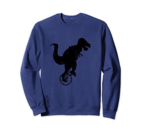 Dinosaur On Unicycle Cute Cycling Dino Funny Unicyclist Gift Sweatshirt