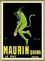 ポスター レオネット カピエッロ Maurin Quina le Puy 額装品 アルミ製ハイグレードフレーム(ゴールド)