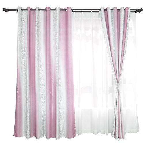 Fenster Semi Voile Panels Blackout Fenster Vorhang Woven Voile Slot Top Vorhang Drapieren Tür Net Vorhang für Mädchen Schlafzimmer Wohnzimmer Zimmer Decor 100X270cm