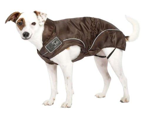 DOGBITE Regenjacke FLEXIBLE SYSTEM Braun Mantel für Hunde 30cm