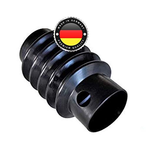WS · SYSTEM 2x Universal Faltenbalg aus Gummi – 2 Stk flexible & dehnbare Achsmanschette MADE IN GERMANY aus hochwertigem PVC – Schelle kompatibel zu BPW PAV-SR 2,7 & Maße L 170 mm Ø 70mm