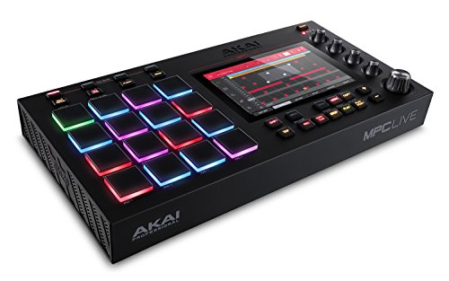 Akai Professional MPC Live   Ultra-Portable Fully Standalone MPC With 7-Inch Multi-Touch Display, 16GB On-Board Storage, Rechargeable Battery, Full Control Arsenal and 10GB Sound Library Included