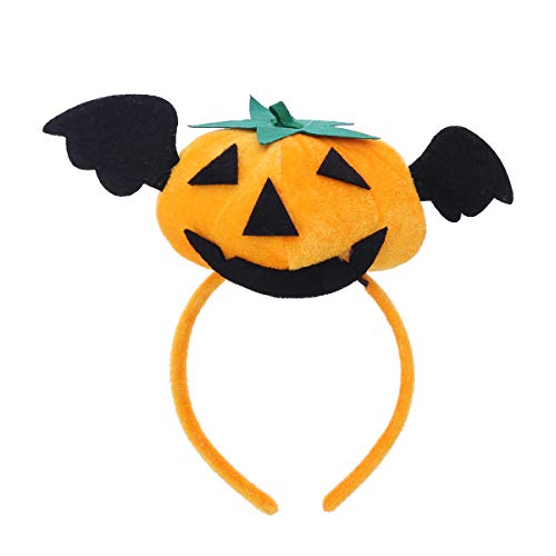 Fenical Halloween Kürbis mit Devil Wings Stirnband für Masquerade Props Theme Party Supply
