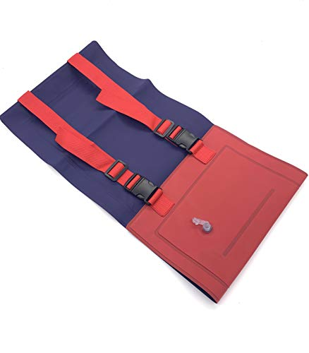Silfrae Swim Belt Floatation Belt Swimming Training Aid Belt Swim Foam Waist Belt for Kids Adult (Inflatable-Red/Blue)