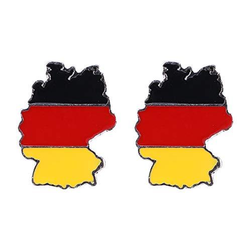 BESTOYARD 2 STÜCKE Brosche Pins Flaggen Pins Deutschland Legierung Brosche Territorien Shaped Brosche Revers Pin Schmuck Dekor für Männer Frauen