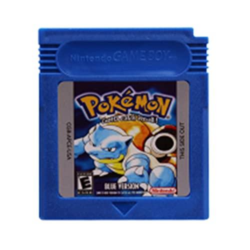 Friday Blue Cartucho de Videojuegos de 16 bits Cartucho de Cartucho Apto for Nintendo GBC Juego Clásico Recoger Versión Colorida Inglés Idioma ZZ (Color : Pokeon Blue)