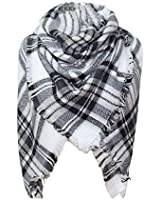 Blanket Scarf Women's Plaid Scarf Winter Oversized Scarves Tartan Shawl Wrap Warm Tassels Pashmina Poncho Scarf