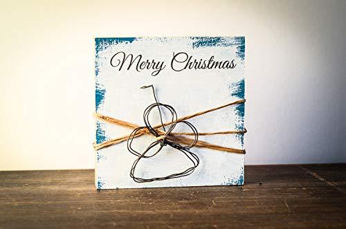 kleiner Engel Weihnachtsdeko Weihnachten modern minimalistisch Merry Christmas Geschenk Wichteln Weihnachtsdekoration Shabby-Stil gifts gift for her handmade
