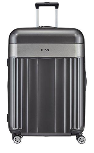 TITAN 4-Rad Koffer Größe L mit TSA Schloss, Gepäck Serie SPOTLIGHT: Edler Trolley in trendigen Farben, 831404-04, 76 cm, 102 Liter, anthracite (grau)