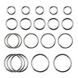 20 Pieces Stainless Steel High Strength Round O Ring 4mm Thickness, for Hardware Bags Ring Hand DIY Accessories, 30mm, 40mm, 50mm, 60mm, Each of 5