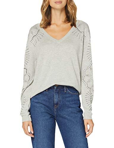 Desigual Womens JERS_VANCOUVE Pullover Sweater, Grau, M