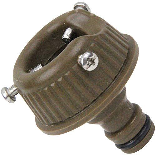 セフティー3 コイルホース用蛇口ニップル 適合ホース内径8mm ブラウン