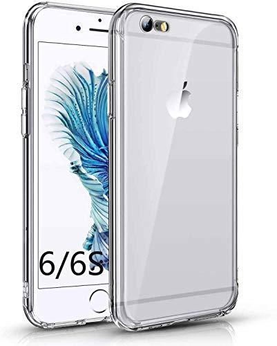 Für iPhone 6 Hülle iPhone 6s Handyhülle Transparent Case Kompatibel mit iPhone 6/6s, Ultra Dünn Crytal Clear Transparent TPU Handyhülle Anti-gelb Stoßfest Kratzfest Hülle für iPhone 6/6s, Kristalklar