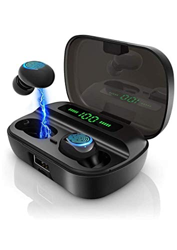 Bluetooth Kopfhörer in Ear, Kabellose Bluetooth 5.0 Kopfhörer Spielzeit, Mono/Share-Modus, Touch-Control Wireless Earbuds Headset, Stereo Ohrhörer mit Mikrofon und Ladecase