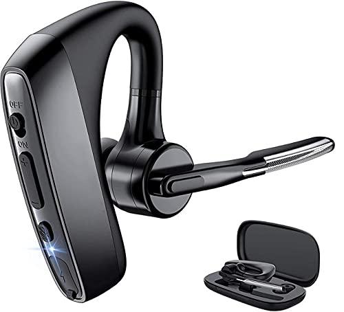 Útil Auriculares con convenientes y fáciles de usar auriculares Bluetooth Bluetooth inalámbrico con función de reducción de ruido de micrófono dual Adecuado para teléfono inteligente Dar un regalo