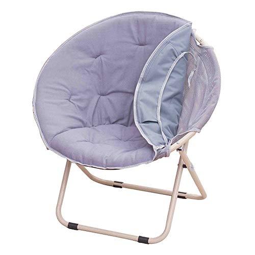 Chaises pliantes Multifonctions Chaise de Lune Chaise de canapé,Chaise de Radar,Chaise Ronde Chaise de Jardin Chaise de Camping Chaise Longue d'extérieur Paresseux,Rouge