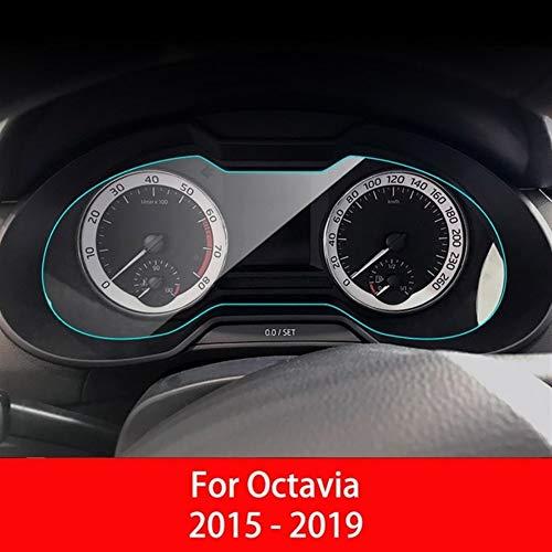 Película protectora Tablero de instrumentos del coche Protector de pantalla for Skoda Octavia 2009 - 2019 del tablero de instrumentos de membrana interior película protectora Accesorios for el coche m