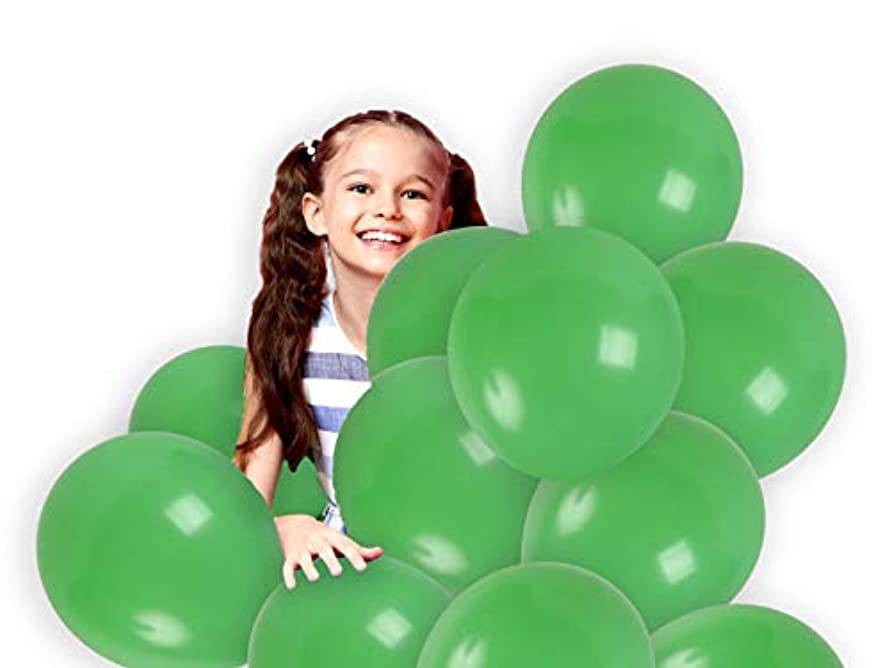 Treasures Gifted 12 Inch Light Green Solid Latex Balloons Premium Quality Bouquet for Monster Theme Birthday Party Baby Shower Wedding Mardi Gras Supplies (36 Pack)
