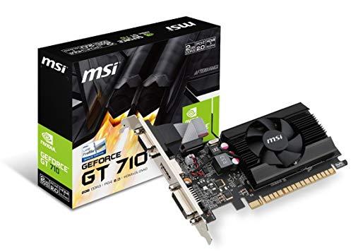 MSI Gaming GeForce GT 710 2GB GDRR3 64-bit HDCP Support DirectX 12 OpenGL 4.5 Single Fan Low Profile Graphics Card (GT 710 2GD3 LP) (Renewed)